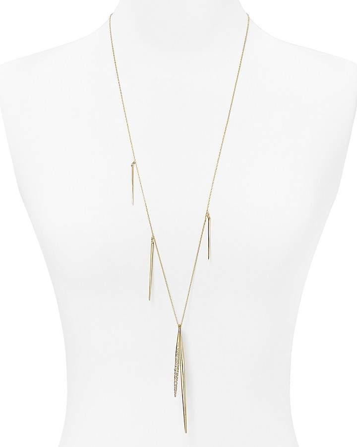 "Alexis Bittar Miss Havisham Crystal Encrusted Long Spear Necklace, 32"""