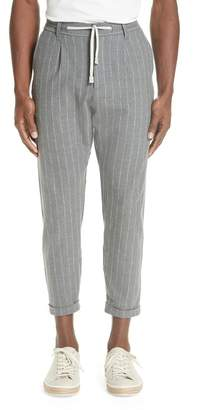 Eleventy Slim Fit Pleated Flannel Jogger Trousers