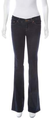 J Brand Low-Rise Flared Jeans
