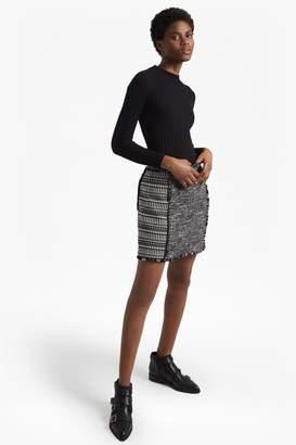 French Connection Pixel Mix Cotton Mini Skirt