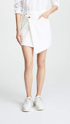 EVIDNT Raw Hem Miniskirt