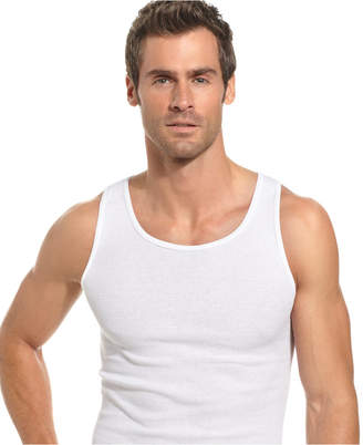 Alfani Men's Underwear, Tagless Ribbed Tank Top 5 Pack