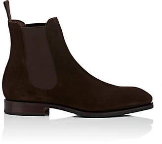 Carmina Shoemaker Men's Suede Chelsea Boots - Dk. brown
