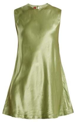 Sies Marjan - Sia Satin Sleeveless Top - Womens - Green