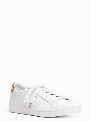 Kate Spade Keds x leather and glitter sneakers