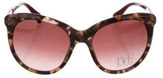 Diane von Furstenberg Riley Tortoiseshell Sunglasses