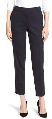 BOSS Timahina Monostripe Stretch Wool Suit Trousers