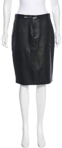 Ralph Lauren Collection Leather Pencil Skirt