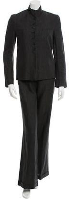 Calvin Klein Collection Linen Pant Suit $75 thestylecure.com