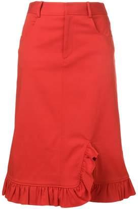 Preen Line Marina frill trim skirt