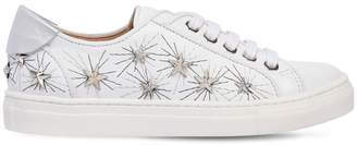 Aquazzura Cosmic Star La Studded Leather Sneakers
