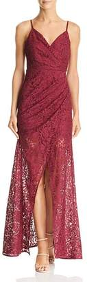 Aijek Faux-Wrap Lace Gown - 100% Exclusive