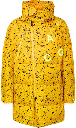 8af6c7e8fd2 Nike Acg Oversized Quilted Printed Ripstop Hooded Down Parka