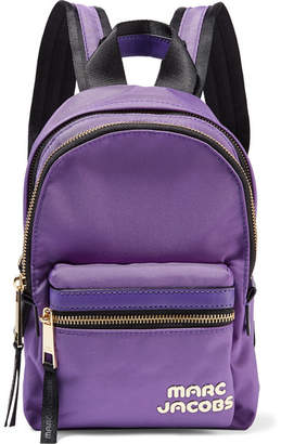 Marc Jacobs Trek Pack Mini Leather-trimmed Shell Backpack - Purple