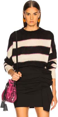 Etoile Isabel Marant Reece Sweater in Black & Ecru | FWRD