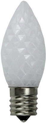 Northlight Seasonal 25 White Faceted LED C9 Replacement Christmas Bulbs