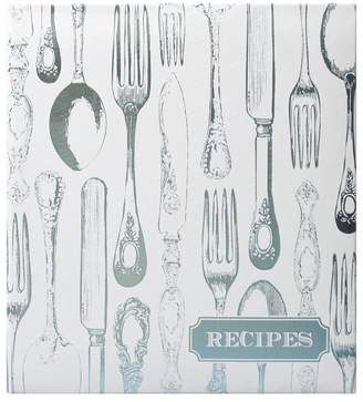 Eccolo Recipe Book - Vintage Utensils, Silver