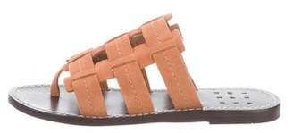 Trademark Suede Caged Slide Sandals w/ Tags