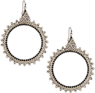 Nakamol Czech Crystal Circle Drop Earrings