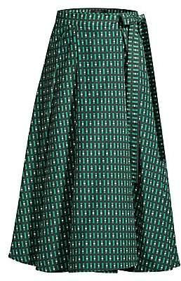 Max Mara Women's Printed A-Line Midi Skirt
