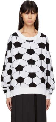 Gosha Rubchinskiy White and Black Hexagon Crewneck Sweater