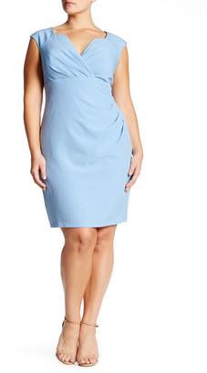 Adrianna Papell Surplice Pleat Sheath Dress (Plus Size) $120 thestylecure.com