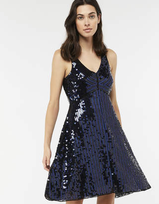 Monsoon Dinah Heart Sequin Short Dress