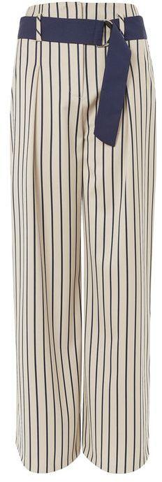 TopshopTopshop Stripe wide leg trousers