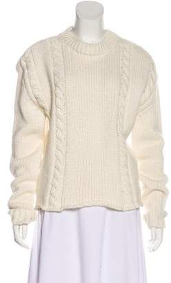 Anine Bing Wool-Blend Cable Knit Sweater