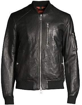Belstaff Men's Leather Bomber Jacket