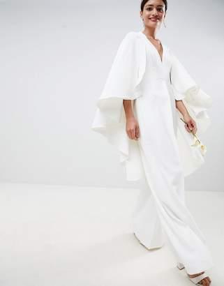 Asos EDITION cape wedding jumpsuit