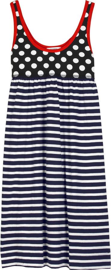 Sonia by Sonia Rykiel Dot and stripe dress
