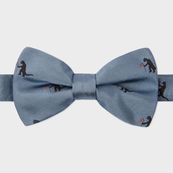 Paul SmithMen's Sky Blue 'Kaiju' Pattern Silk Bow Tie
