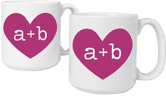Cathy's Concepts CATHYS CONCEPTS Heart of Love Set of 2 Personalized Large 20-oz. Coffee Mugs