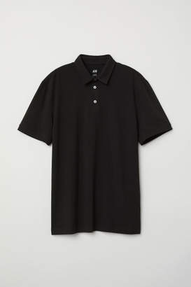 H&M Polo Shirt Slim fit - Black