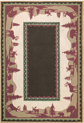 The Rug Market Home On The Range Hand-Made Wool Contemporary Rug