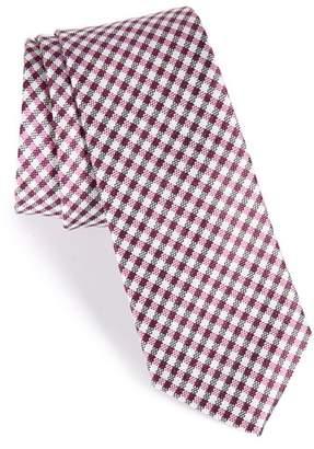 Nordstrom Check Silk Skinny Tie