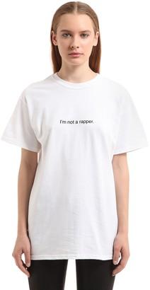 I'm Not A Rapper Cotton Jersey T-Shirt