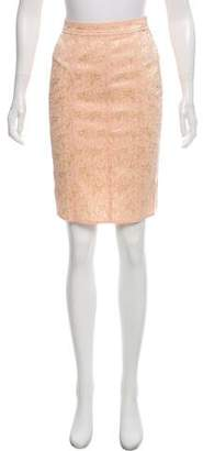 Blumarine Jacquard Knee-Length Skirt