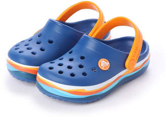 Crocs (クロックス) - クロックス crocs クロッグサンダル crocband? wavy band clog kids 205697-4GX
