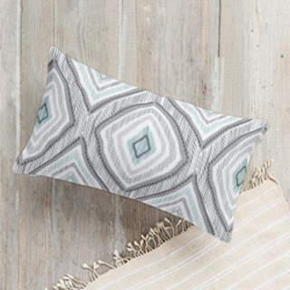 imperfectly perfect ikat Lumbar Pillow