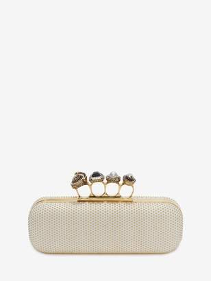 Alexander McQueen Jeweled Four-Ring Clutch