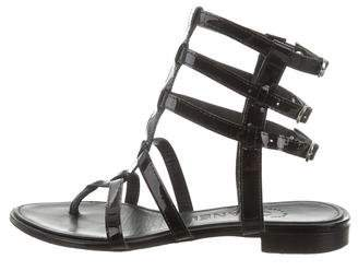 Chanel Patent Leather Gladiator Sandals