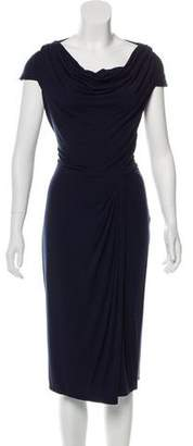 Magaschoni Drape-Accented Casual Dress