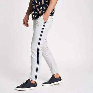 River Island Grey tape side skinny fit pants