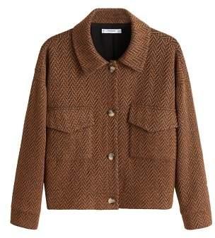 MANGO Herringbone pocket jacket