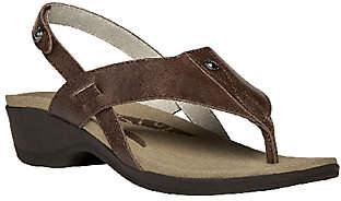 Propet Rejuve Leather Thong Sandals with Backstrap - Mariko $94 thestylecure.com