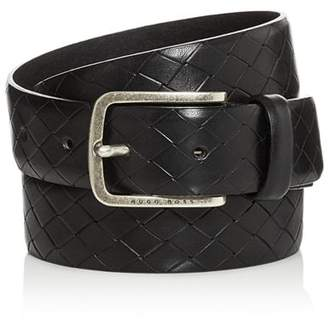 HUGO BOSS Men's Jor Embossed Leather Belt