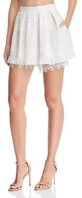 For Love & Lemons Charlotte Eyelet Mini Skirt