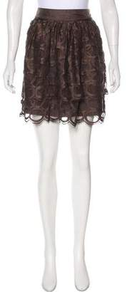 Robert Rodriguez Lace Mini Skirt